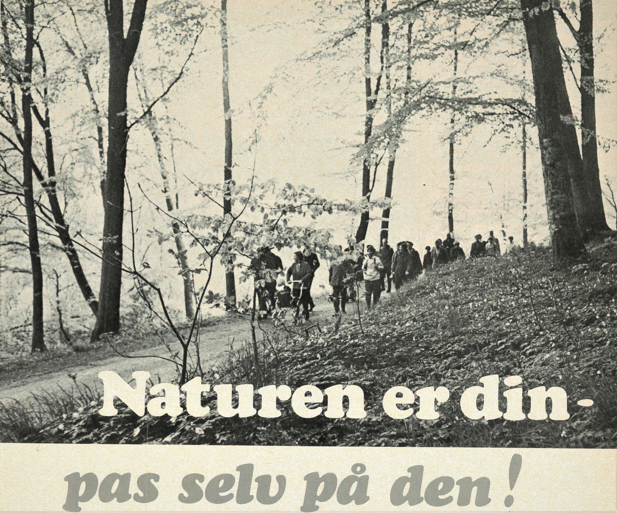 Foto fra vores medlemsblad Fritidsliv 1970